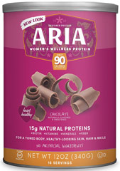 Aria Women's Protein Chocolate <p><b>From the Manufacturer's Label:</b></p> <p>Aria Women's Protein is manufactured by Designer Whey.</p><p>Available in Vanilla and Chocolate flavors.</p> 12 oz Powder  $8.99