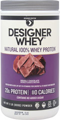 Whey Protein Double Chocolate <p><b>From the Manufacturer's Label:</b></p> <p>Whey Protein Chocolate is manufactured by Designer Whey.</p> <p>Available in Chocolate, Vanilla, Double Chocolate and Vanilla Praline  flavors.</p> 2 lbs Powder  $22.99