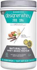 Whey Protein Vanilla Praline <p><strong>From the Manufacturer's Label:</strong></p><p>Whey Protein Vanilla Praline is manufactured by Designer Whey. 100% Premium Whey Protein Powder, naturally flavored and sweetened, designed with your body in mind. </p><p>Great taste, smooth and delicious - making your plan more enjoyable!</p> 2 lbs Powder  $22.99