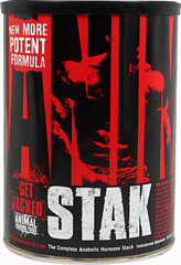 "Animal Stak™ <p><strong>From the Manufacturer's Label:</strong></p><p><strong>WHAT ANIMAL STAK™ IS:</strong> Hard gainer. You're a hard worker and you give it everything you got 24/7 but the gains are hard to come by. As a classic hard gainer, you train big and you eat big, but you have little to show for it. Animal M-Stak is a non-steroidal product geared specifically for you. Through its unique set of properties, most notably ""nutrient-partitioning"