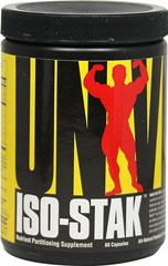 Iso-Stak <p.<b>From the Manufacturer's Label:</b></p> <p>Iso-Stak is manufactured by Universal.</p>  60 Capsules  $24.99