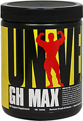 GH Max  <p.<b>From the Manufacturer's Label:</b></p> <p>GH Max is manufactured by Universal.</p> 180 Tablets  $19.49
