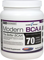 Modern BCAA Grape Bubblegum <p><b>From the Manufacturer's Label:</b></p> <p>Are you still using dated, bulky BCAAs with non-micronized aminos & ordinary l-glutamine-loaded with unnecessary artificial flavors & dyes?</p> <p>Get out of the stone age with USP Labs Modern BCAA™ - Equipped with 10 grams per serving of micronized aminos along with a natural taste that's so good, you have to try to believe.</p> <p>Manufacted by USP L