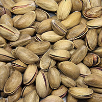 Roasted Salted Turkish Pistachios These delicious, wholesome roasted and salted Turkish pistachios will become your latest nut obsession! <br /> 9 oz Container  $19.99