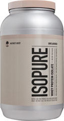 Isopure Whey Protein Isolate <p><strong>From the Manufacturer:</strong></p><p>Isopure Unflavored WPI powder contains 26 grams per serving of 100% Whey Protein Isolate, stripped of fat, carbs, fillers, sugars, and lactose. Easy to add to any food and beverage (hot or cold).</p><p>Manufactured by Nature's Best<strong></strong><br /></p> 3 lbs Powder  $49.99