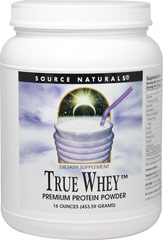 True Whey Premium Protein Vanilla <p><strong>From the Manufacturer's Label:</strong></p><p>True Whey Premium Protein Vanilla is manufactured by Source Naturals.</p> 16 oz Powder  $22.49