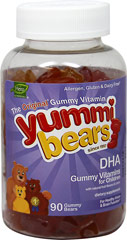 Yummi Bears® DHA for Children <p>Yummi Bears DHA with EPA are the perfect solution for children who do not like to take their vitamins. Children love our great taste and parents love that their children get the wholesome nutrition they deserve.</p>  <p>This product is free of  Yeast, wheat, milk, eggs, soy, salt, tree nuts, peanuts, shellfish, allergens, gluten, casein, artificial flavors, artificial colors, salicylates, and preservatives.</p> <p>• Gummy vitami