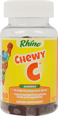 Rhino Vitamin C Gummy w/Zinc and Echinacea <p><b>From the Manufacturer's Label:</b></p><p>Rhino Vitamin C Gummy w/Zinc and Echinacea is  manufactured by Nutrition Now,</p> 60 Gummies  $6.49