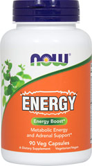 Energy <p> <b> From the Manufacturer's label:</b></p>Natural source of energy</p><p>Metabolic Diet and Adrenal Support*</p><p>Manufactured by Now Foods</p> 90 Capsules  $9.99