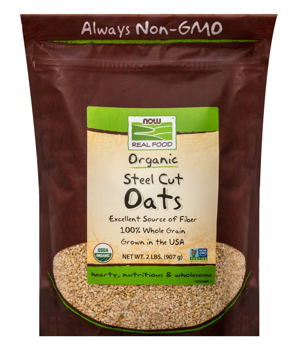 Oats Steel Cuts <p>Freshly milled from high protein oats and cut into neat little pieces on a steel buhr mill, Steel Cut Oats are one of the healthiest foods you can eat and they make a delightful, full-bodied hot cereal.</P> 2 lb Bag  $7.99