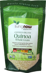 "Organic Quinoa Grain <p>Quinoa is a member of the Chenopodium family and is similar to amaranth. Quinoa was one of the staple grains for the ancient Incas, who called it ""The Mother Grain"". Quinoa has been consumed for thousands of years and is one of the highest grain sources of protein. </P>   16 oz Bag  $9.99"