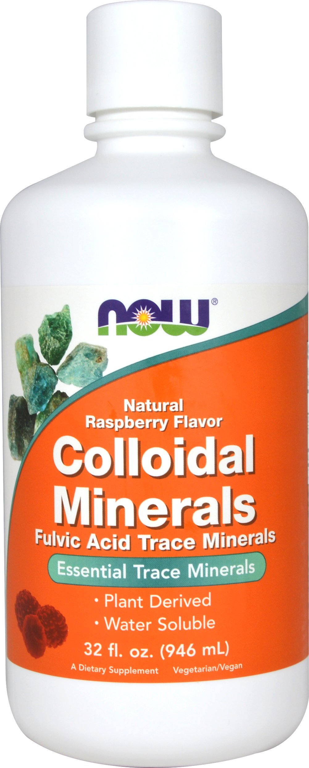 Colloidal Mineral Raspberry <p><b>From the Manufacturer's Label:</b></p> <p>Essential Trace Minerals</p> <p>Fulvic Acid Trace Minerals</p> <p>- Plant Derived</p> <p>-Water Soluble</p>  <p>NOW® Raspberry Flavored Colloidal Minerals is a pleasant tasting blend comprised of highly absorbable, water-soluble minerals derived from prehistoric plant deposits in Utah. Each 1 ounce serving has naturally occurring tr