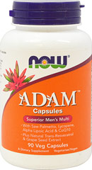 Adam™ Superior Men's Multi <p><strong>From the Manufacturer's Label:</strong></p><p>Superior Men's Multi</p><ul><li>With Saw Palmetto, Lycopene, Lutein, Alpha Lipoic Acid & CoQ10<br />Plus Natural Trans-Resveratrol & Grape Seed Extract</li><li>Vegetarian Formula</li></ul><p></p><p>Manufactured by NOW® Foods.</p> 90 Vegi Caps  $19.49