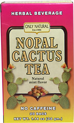 Nopal Cactus Tea <p><p.<b><strong>From the Manufacturer's Label:</strong></p.<b></p><p><p.<b><p>Natural Mint Flavor</p><p>No Caffeine</p><p>Enjoy this delicious tea any time, anywhere.</p></p.<b></p> 20 Tea Bags  $4.49
