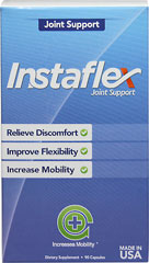 Instaflex Joint Support <p><strong>From the Manufacturer's Label:</strong></p><p><strong></strong></p><p><strong></strong></p><p><strong></strong></p><ul><li>Promote Flexibility**</li><li>Support Mobility**<br /> <br />Instaflex is a revolutionary joint health formula that has been scientifically formulated to help  with stiff, achy joints and