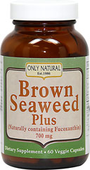 Brown Seaweed Plus <p><strong>From the Manufacturer's label:</strong></p><p>Naturally containing Fucoxanthin</p><p>Veggie Capsules</p><p>Only Natural's Brown Seaweed Plus is a synergistic blend of the finest quality Brown Seaweed naturally containing fucoxanthin and Organic Green Tea Extract to support healthy blood sugar, immune function and weight loss.**</p><p>Manufactured by Only Natural Inc.</p> 60 Capsules 500