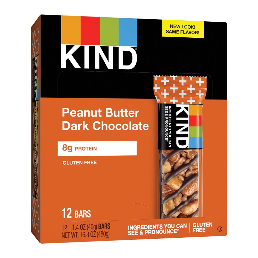 Kind Peanut Butter Dark Chocolate + Protein  12 per Box  $17.49
