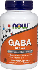 GABA with Vitamin B-6 500 mg / 2 mg <p><strong>From the Manufacturer's Label:</strong></p><p>GABA (gamma aminobutyric acid) is a non-essential amino acid found mainly in the human brain and eyes. It is considered an inhibitory neurotransmitter, which means it regulates brain and nerve cell activity by inhibiting the number of neurons firing in the brain. By inhibiting over-stimulation of the brain, GABA may help promote relaxation and ease nervous tension</p&