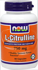 L-Citrulline 750 mg <p><strong>From the Manufacturer's Label:</strong></p><p>Citrulline is a non-essential amino acid that is an important intermediate in the urea cycle, functioning along with Arginine and Ornithine to rid the body of ammonia, a byproduct of protein metabolism. Because Citrulline is a precursor of Arginine, it provides a readily available source material for Arginine production, thereby helping the body maintain healthy Arginine levels. Citrull