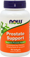 Prostate Support <p><strong></strong></p><p><strong>From the Manufacturer's Label</strong><br /><br />Supports Prostate Health**<br />Standardized Saw Palmetto, Stinging Nettle & Lycopene<br /><br />Manufactured by NOW Foods</p><p></p><p></p> 90 Softgels  $14.99