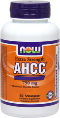 AHCC® 750 mg <p><b>From the Manufacturer's Label:</b></p> <p>Mushroom Mycelia Extract</p>  <p>AHCC® (Active Hexose Correlated Compound) is a proprietary extract produced from specially cultivated and hybridized mushrooms.  AHCC® also possesses antioxidant properties.**</p> <p>Manufactured by NOW® Foods.</p> 60 Vegi Caps 750 mg $59.99