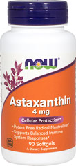 Astaxanthin 4 mg Vegetarian <p><strong>From the Manufacturer's Label:</strong></p><p>Carotenoid Antioxidant</p><p>Vegetarian Formula</p><p>Astaxanthin is a naturally occurring carotenoid that, because of its unique structure, provides antioxidant benefits.  Zanthin® Astaxanthin supports overall ocular health.** </p><p>Manufactured by NOW® Foods. </p> 60 Softgels 4 mg $11.99