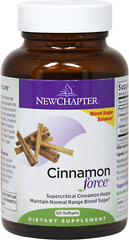 Cinnamon Force® <p><b>From the Manufacturer's Label:</b></p>  <p>Cinnamon possesses a unique power amongst botanicals by assisting in the body's conversion of sugar (glucose) into energy. The full spectrum of beneficial compounds found in Cinnamon Force is delivered using a supercritical extraction, whole-food approach to herbal supplementation. Cinnamon Force promotes healthy weight management.** New Chapter uses no harsh chemical solvents to deliver a sup