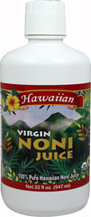 Noni Juice Hawaiian 100% Virgin <p><strong>Certified Organic - Farmer Direct</strong> </p><p>Enjoy this Hawaiian grown 100% pure noni juice and experience the health benefits of drinking the highest quality, most potent, pure noni juice!</p><p>Virgin Noni Juice is made the traditional Hawaiian way using ripe noni fruit that is fermented for several weeks allowing the juice to naturally seep from the fruit. We never use concentrates, frozen pulp or recons