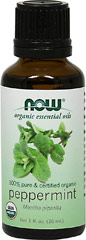Organic Peppermint Essential Oil <p><b >From the Manufacturer:</b></p> <p>Peppermint oil has a very potent minty aroma that produces a cooling and refreshing sensation.</p> <p>Extra large 1 oz</p> 30 ml Oil  $14.99