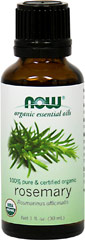 "Organic Rosemary Essential Oil <p><strong>From the Manufacturer:</strong></p><p>This wild-crafted Rosemary has a wonderful depth of aroma, not sharp or medicinal, but bright, uplifting and almost sweet.</p><ul><li><span class=""bold-pink"">Traditional Uses:</span> Refreshing, cheering, cleansing, and invigorating<br type=""_moz"" /></li><li><span class=""bold-pink"">History:</span> R"