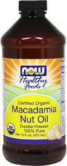 Organic Macadamia Nut Oil <strong></strong><p><strong>From the Manufacturer's Label:</strong></p><p>You can travel the world and not find a more perfect cooking oil than Macadamia Oil</p><p>These organically grown nuts are superior in quality, and account for its unique nutritional profile.</p><p>This coupled with its delicious nutty flavor makes Macadamia Nut Oil the perfect complement to chicken, fish, vegetables, stir fry a