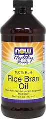 Rice Bran Oil <b><p>From The Manufacturers Label:</b></p><p> Rice Bran Oil is a high-grade vegetable oil with some unique characteristics that is superb for use on salads or as a cooking oil.</p>  16 oz Liquid  $7.99