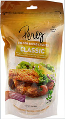 Classic Breadcrumbs <b><p>From The Manufacturers Label:</b></p> <p>Perfect for classic dishes such as meatloaf, fried chicken, and vegetable casseroles or add them as a crunchy coating to fish.</p><p>Pereg Classic Golden Bread Crumbs—a classic favorite with a healthy twist!</p> 12 oz Bag  $2.92