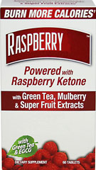 Raspberry Slim with Raspberry Ketone <p><strong> From the Manufacturer's label:</strong></p><p>With Green Tea, Mulberry & Super Fruit Extracts</p><p>Each tablet contains 125 mg Raspberry Ketone</p><p>Distributed by Windmill Health Products.</p> 60 Tablets  $9.71