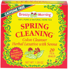 "Spring Cleaning Tea <p><strong>From the Manufacturer's Label: </strong></p><p>We take our bodies for granted until they send out signals of distress.  Quite often all that is needed is a good ""Spring Cleaning"" to set everything right again.  Spring  Cleaning's delicious herbal mix gently and effectively helps to get you going again.  Thus, Spring Cleaning tea is great when you're feeling free and easy.</p> 20 Tea Bags  $6.89"