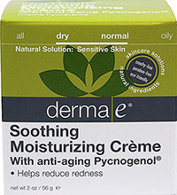 Derma E® Soothing Moisturizing Crème with Anti-Aging Pycnogenol® <p><strong>From the Manufacturer's Label:</strong></p><p>Derma E® Soothing Moisturizing Crème with Anti-Aging Pycnogenol® is cruelty-free, paraben-free and eco-friendly.</p> 2 oz Cream  $19.49