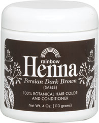 Henna Persian Dark Brown (Sable) Hair Color & Conditioner <p><strong>From the Manufacturer's Label: </strong></p><p>100% Botanical Hair Color and Conditioner</p><p>100% Organic</p><p>No Chemicals or Preservatives Added</p><p>Henna is an alternative to chemical hair colorings that are controversial to health considerations. Henna comes from small shrubs, called Lawsonia, that are native to the Middle East, West Asia, and No