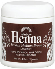 Henna Persian Medium Brown (Chestnut) Hair Color & Conditioner <p><strong>From the Manufacturer's Label:  </strong></p><p>100% Botanical Hair Color and Conditioner</p><p>100% Organic</p><p>No Chemicals or Preservatives Added</p><p>Henna is an alternative to chemical hair colorings that are controversial to health considerations. Henna comes from small shrubs, called Lawsonia, that are native to the Middle East, West Asia,