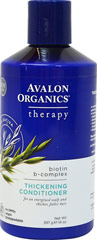 Avalon Biotin B-Complex Conditioner <p><strong>From the Manufacturer's Label</strong></p><p><strong>Fortified with Biotin, Saw Palmetto and Wheat Protein for a healthy scalp and thicker, fuller hair. </strong></p><p>- Maintain Healthy Scalp</p><p>- Nourish Follicles</p><p>- Strengthen Hair Strands</p><p>- Boost Body and Volume</p><p>- Perfect for Daily Use.</p><p>Manufactured by
