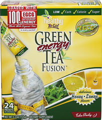 Green Tea Energy Fusion™ Packets <p><b>From the Manufacturer's Label:</b></p> <p>Delicious Honey Lemon Flavor</p> <p>Rip. Pour.Go!™</p> <p>Green Tea Energy Fusion™ is an instantly refreshing, natural energy drink mix that can be conveniently poured on the go, right into your water bottle.  It's perfect for people who want energy from natural, good-for-you ingredients.**</p> <p>Green Tea Energy Fusion™ is more than just tea