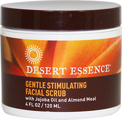 Desert Essence® Facial Scrub with Jojoba Oil & Almond Meal <p><b>From the Manufacturer's Label: </p></b><p>Gently remove dead cells and stimulate your skin with Desert Essence Gently Stimulating Facial Scrub.  The unclogged pores will be free to function properly leaving you with a thoroughly clean sensation. Essential oils from the citrus family enhance its cleansing action and promote the removal of dirt and oil from the surface of the skin.  Your com