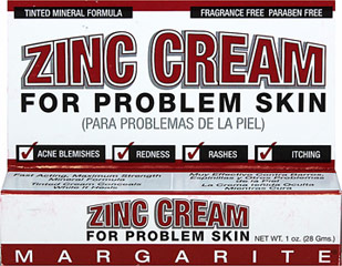 Margarite Cosmetics Zinc Cream <p><strong>From the Manufacturer's Label: </strong></p><p>Tinted Cream</p><p>For Problem Skin</p><p>Maximum Strength Mineral Formula</p><p>Manufactured by  Margarite Cosmetics.</p> 1 oz Cream