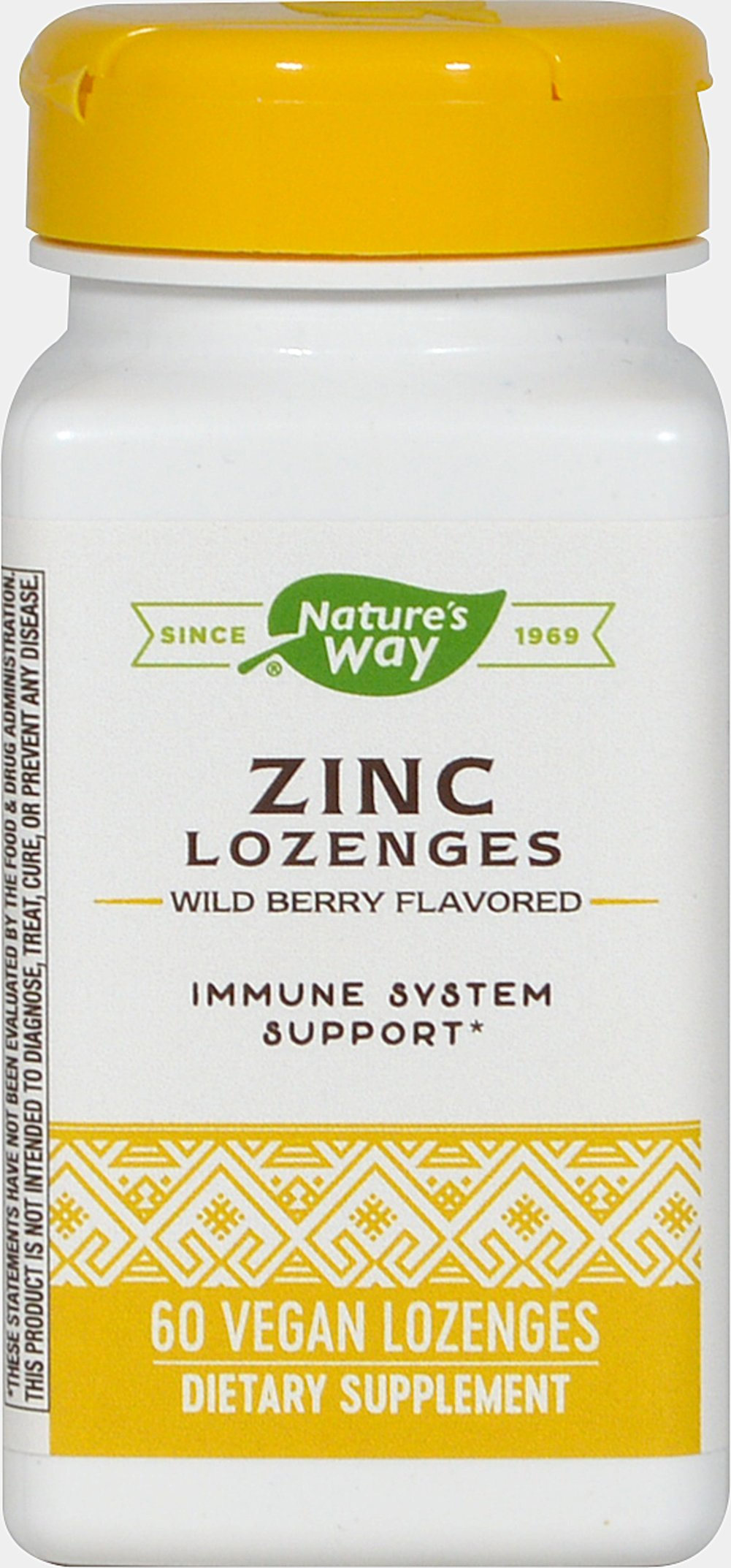 Zinc Lozenges with Echinacea and Vitamin C <p><strong>From Manufacturer's Label:  </strong></p><p>Natural Berry Flavor</p><p>With Echinacea and Vit C</p><p>Zinc helps protect against free radicals and is recognized as an important nutritional support during the winter season.**</p><p>Manufactured by Nature's Way<br /></p> 60 Lozenges  $3.49