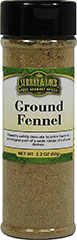 "Ground Fennel <p>Fennel has a delicate licorice flavor and aroma. <span class=""bold-aboutinfo"">Try </span>it in fish dishes, tomato sauces, poultry, sauerkraut, breads, curries, teas, and pastries.<br /></p> 2.2 oz Bottle  $5.99"