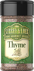 "Thyme Thyme has a delicate sweetness and warmth. Its subtle, earthy flavor has a touch of mint. Thyme enjoys a wide variety of uses in nearly all types of cooking. <span class=""bold-aboutinfo"">Try it with </span>Lamb, pork and beef  roasts; cheese, tomato, and egg dishes; stuffing recipes, spaghetti  sauce, chili, soups, fish, chicken, potatoes, breads, pastas and  vegetables. 1 oz Bottle  $2.99"