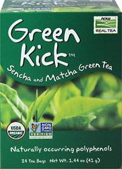 Organic Green Kick™ Sencha & Matcha Green Tea <p><strong>From the Manufacturer's Label:</strong></p><p>Brew a cup of this terrific trio and you'll understand why we're such big fans.  Sencha gives this blend it's unmistakable green shade, while Matcha makes it oh so easy to enjoy.   The perfect blend of green tea with a kick made just for you!</p> 24 Tea Bags  $8.99