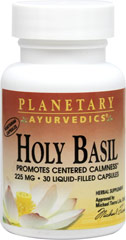 Holy Basil 225 mg <p><b>From the Manufacturer's Label:</b></p> <p>Holy Basil 225 mg is manufactured by Planetary Ayurvedics.</p> 120 Capsules 225 mg $35.99
