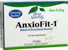 AnxioFit-1® For Occasional Anxiety <p>Although well-known for its support of immune system activity, clinical studies have found that certain echinacosides from echinacia can significantly reduce feelings of anxiety and tension. </p> 45 Tablets  $21.60