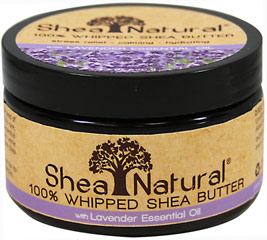 Lavender Essential Oil 100% Whipped Shea Butter <p>Lavender Essential Oil 100% Whipped Shea Butter </p> <p>Stress Relief ** Calming ** Hydrating</p> <p>This 100% pure unrefined Shea Butter is extracted from the seed of the West African Karite Tree.</p>  <p>This rare natural butter contains essential nutrients to heal, moisturize and protects all types of skin.</p> <p>Rich and creamy,  this product is crafted with care. </p> 3.2 oz Shea