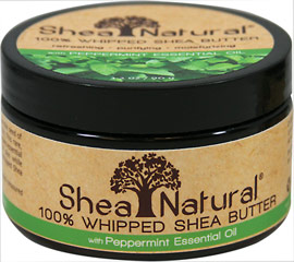 Peppermint Essential Oil 100% Whipped Shea Butter <p>Peppermint Essential Oil 100% Whipped Shea Butter </p> <p>Stress Relief * Calming * Hydrating</p> <p>This 100% pure unrefined Shea Butter is extracted from the seed of the West African Karite Tree.</p>  <p>This rare natural butter contains essential nutrients to heal, moisturize and protects all types of skin.</p> <p>Rich and creamy,  this product is crafted with care. </p> 3.2 oz She